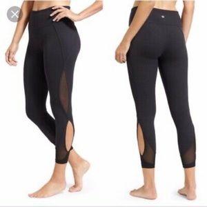 Athleta Salutation 7/8 leggings mesh / cutout